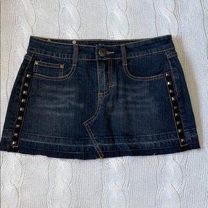 Abbey Dawn Studded Denim Skirt